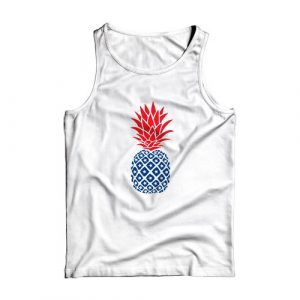 4th of july pineapple Tank Top