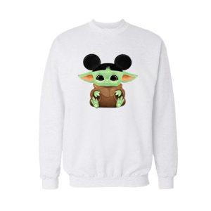Baby Yoda Mickey Hat Sweatshirt For Unisex