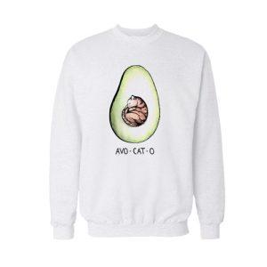 Avo Cat O Cats Avocado Sweatshirt
