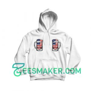 4th Of July Boobie Hoodie Independence Day Size S - 3XL