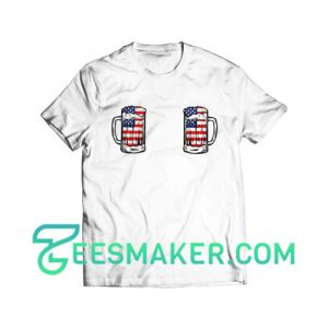 4th Of July Boobie T-Shirt Independence Day Size S - 3XL