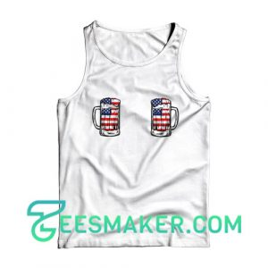 4th Of July Boobie Tank Top Independence Day Size S - 2XL