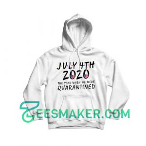 American Flag Quarantined 2020 Hoodie Independence Day Size S - 3XL