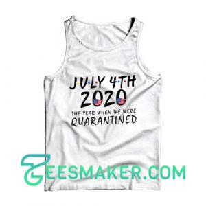 American Flag Quarantined 2020 Tank Top Independence Day