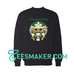 Baby Yoda Drinking Starbucks Sweatshirt