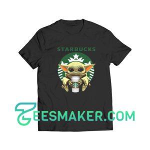 Baby Yoda Drinking Starbucks T-Shirt