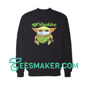 Baby Yoda Mask Hug Shaklee Sweatshirt Star Wars Size S - 3XL