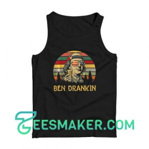 4th Of July Ben Drankin Tank Top Independence Day Size S - 2XL