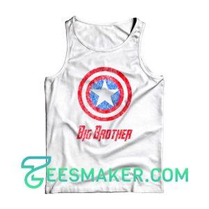 Captain America Big Brother Tank Top Marvel Comics Size S - 2XL