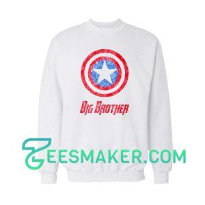 Captain America Big Brother Sweatshirt Marvel Comics Size S - 3XL