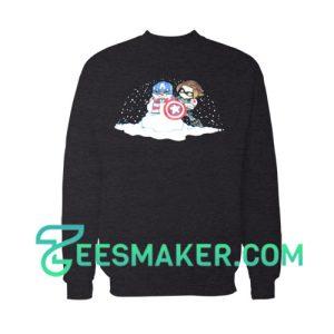 Captain America Snowman Sweatshirt Marvel Comics Size S - 3XL