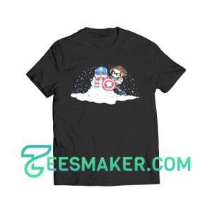 Captain America Snowman T-Shirt Marvel Comics Size S - 3XL