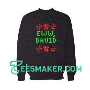 Ew David Flowers Sweatshirt Merry Christmas Size S - 3XL
