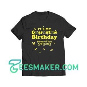 It's My Quarantine Birthday T-Shirt