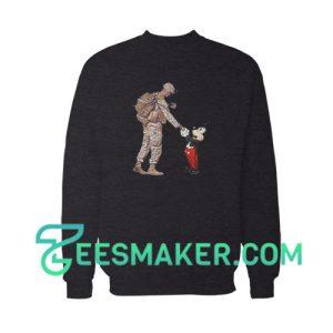 Mickey Mouse Thankful Veteran Sweatshirt Disney Company Size S - 3XL