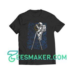 SpaceX Doodle T-Shirt Astronaut NASA Art Size S - 3XL
