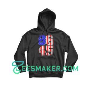 8645 Anti Trump USA Flag Hoodie Political Size S - 3XL