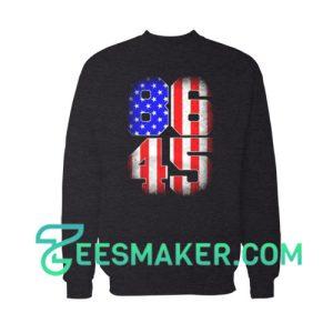 8645 Anti Trump USA Flag Sweatshirt Political Size S - 3XL