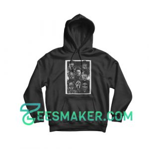 All Horror Movie Character Hoodie Halloween Day Size S - 3XL