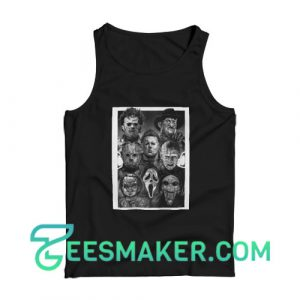 All Horror Movie Character Tank Top Halloween Day Size S - 2XL