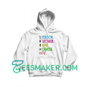 Art Person Woman Man Hoodie Camera TV Size S - 3XL