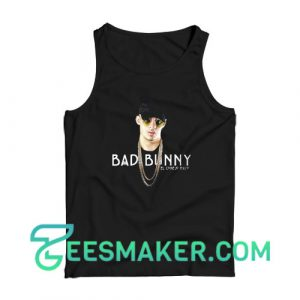 Bad Bunny Graphic Photos Tank Top American Rapper Size S - 2XL