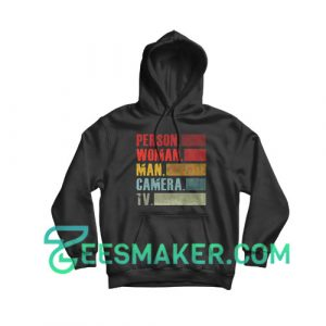 Colored Person Woman Man Hoodie Camera Tv Size S - 3XL