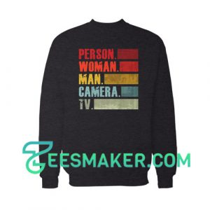Colored Person Woman Man Sweatshirt Camera Tv Size S - 3XL