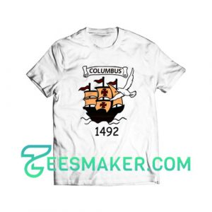 Columbus Day 1492 T-Shirt Christopher Columbus Size S - 3XL