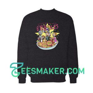 Rick And Morty Eyeholes Sweatshirt Cartoon Network Size S - 3XL