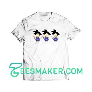 Three Saiyan Monkeys Goku T-Shirt Dragon Ball Size S - 3XL