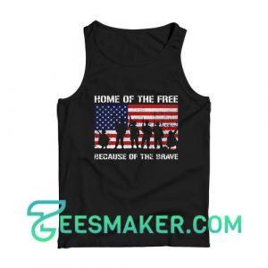 Home of The Free US Veterans Day Tank Top Men's Softstyle