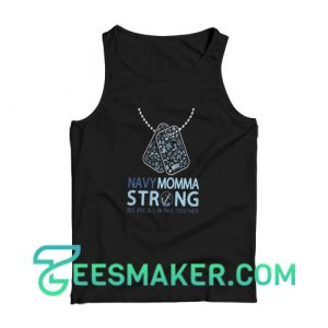 Veterans navy momma strong Tank Top Men's Softstyle Tank Top Unisex
