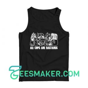 ACAB All Cops Are Bastards Black White Tank Top For Unisex