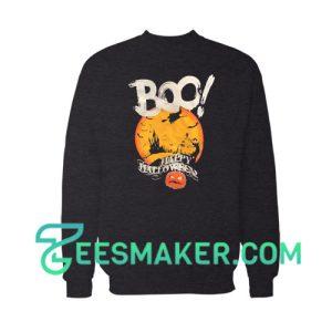 Boo Happy Halloween Sweatshirt For Unisex