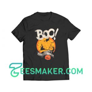 Boo Happy Halloween T-Shirt For Unisex