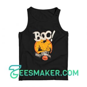 Boo Happy Halloween Tank Top For Unisex
