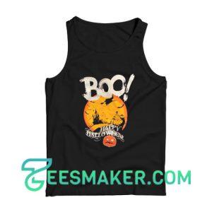 Boo Happy Halloween Tank Top For Unisex