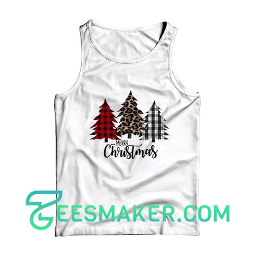 Gift Christmas Tree Tank Top For Unisex