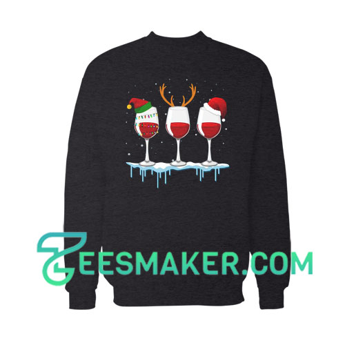 Just A Girl Who Loves Wine At Christmas Sweatshirt For Unisex
