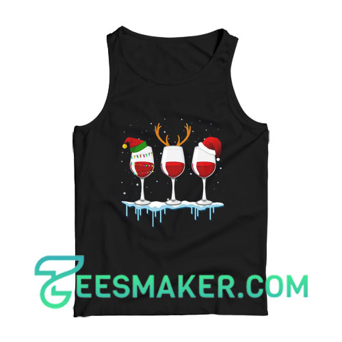 Just A Girl Who Loves Wine At Christmas Tank Top For Unisex