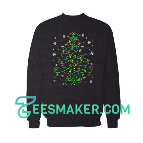 Mickey Christmas Tree Sweatshirt For Unisex