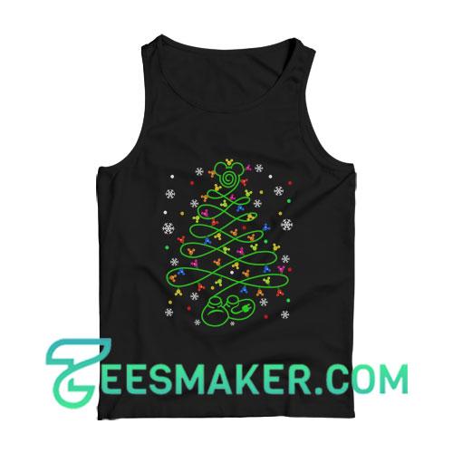Mickey Christmas Tree Tank Top For Unisex