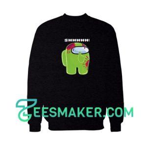 Among-Us-Lime-Sweatshirt-Black