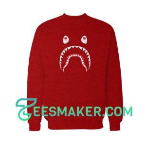 Bape-Shark-Sweatshirt-Maroon