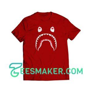 Bape-Shark-T-Shirt-Maroon