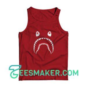 Bape-Shark-Tank-Top-Maroon