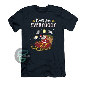 Cats-For-Everybody-Christmas-T-Shirt-Black