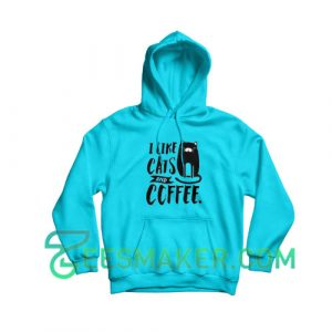 Cats-and-Coffee-Hoodie-Blue