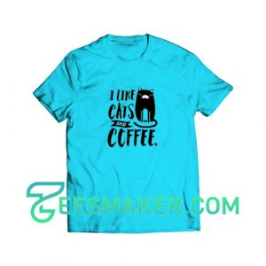 Cats-and-Coffee-T-Shirt--Blue